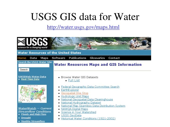 USGS GIS data for Water