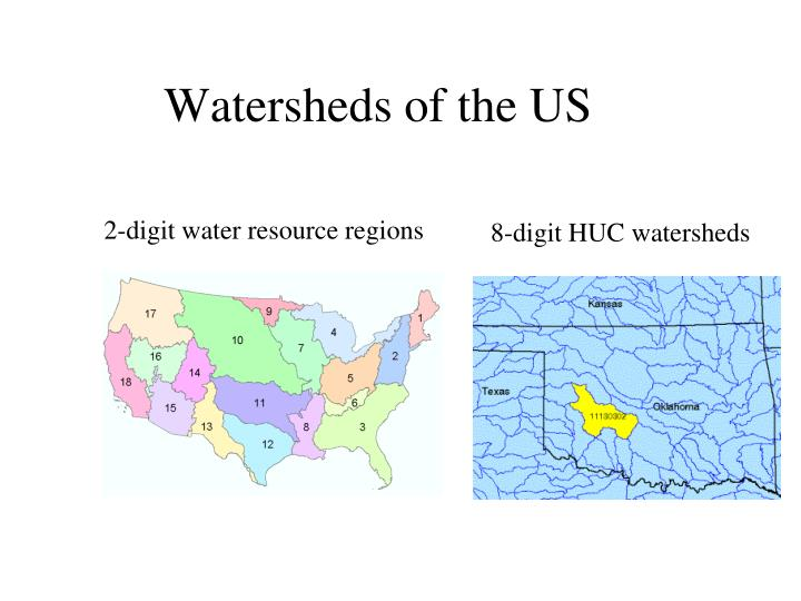 Watersheds of the US