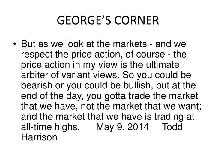 GEORGE'S CORNER