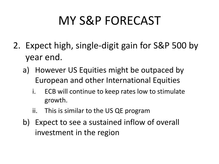 MY S&P FORECAST