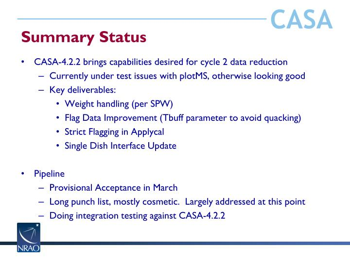 Summary Status