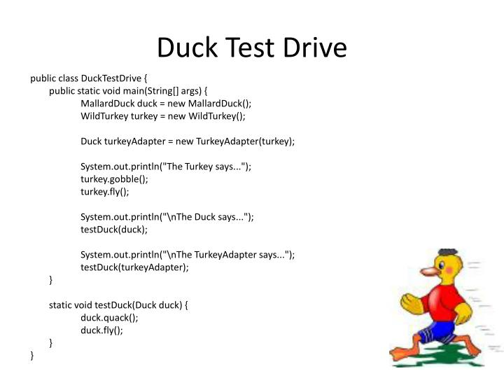 Duck Test Drive