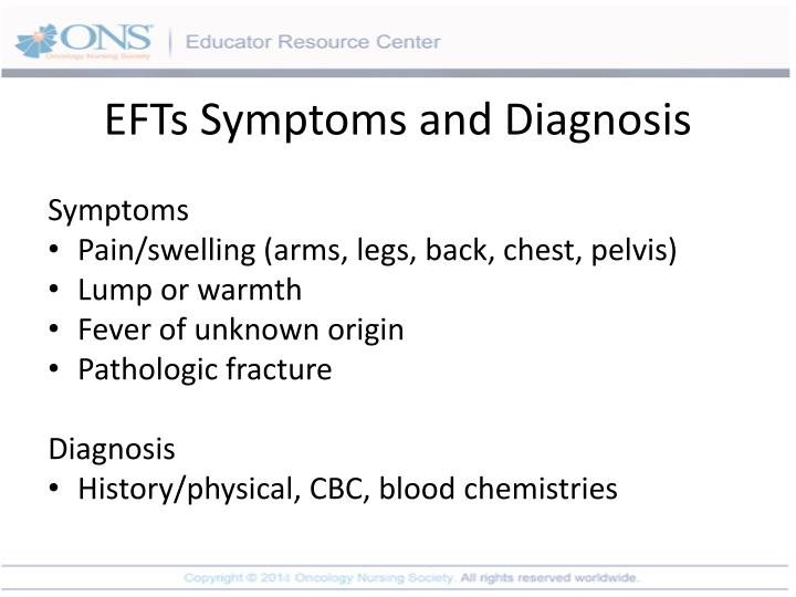 EFTs Symptoms and Diagnosis