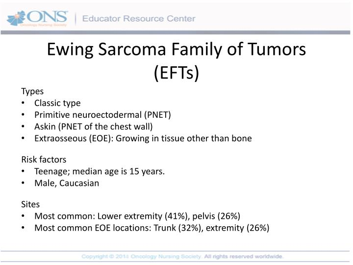 Ewing Sarcoma Family of Tumors