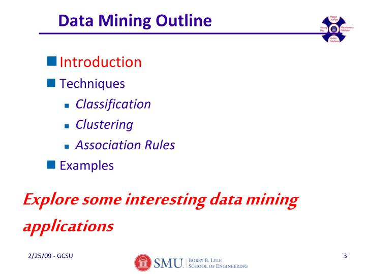 Data mining outline