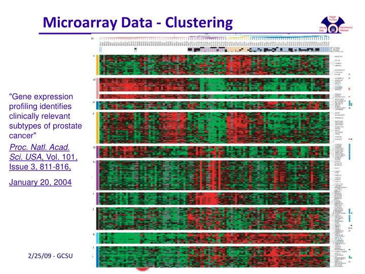 Microarray Data - Clustering