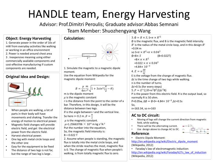 HANDLE team, Energy Harvesting