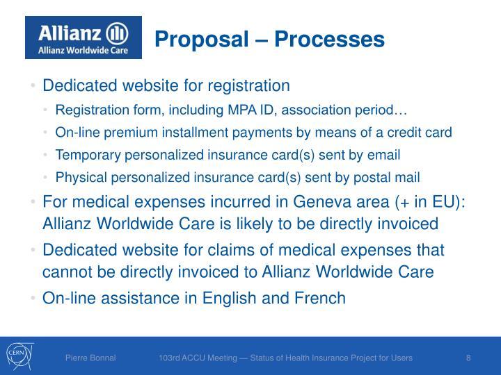Proposal – Processes