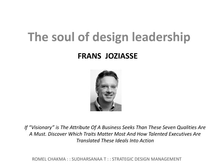 The soul of design leadership