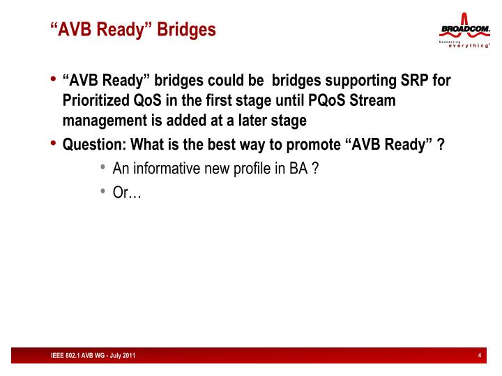 """AVB Ready"" Bridges"