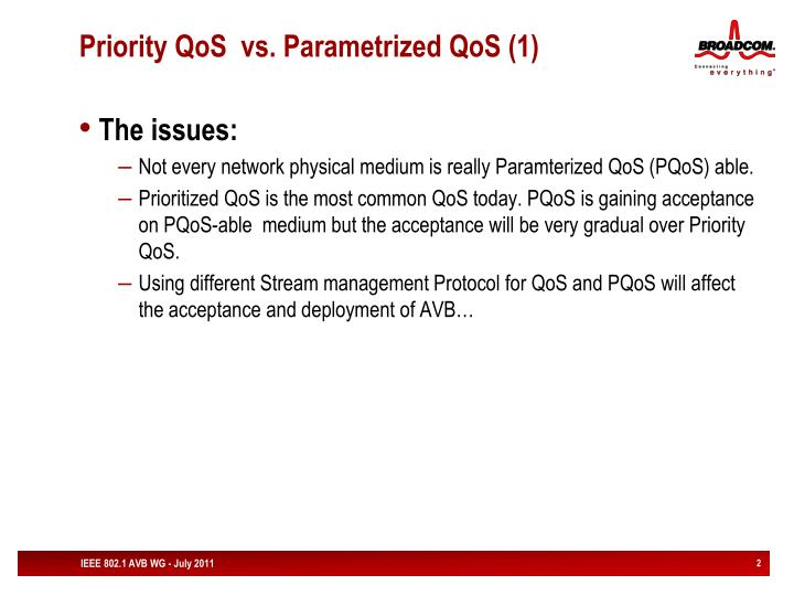 Priority qos vs parametrized qos 1