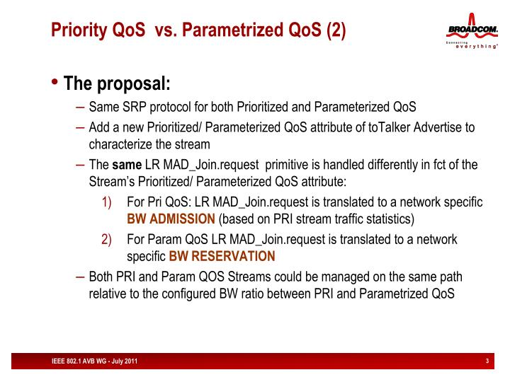 Priority qos vs parametrized qos 2