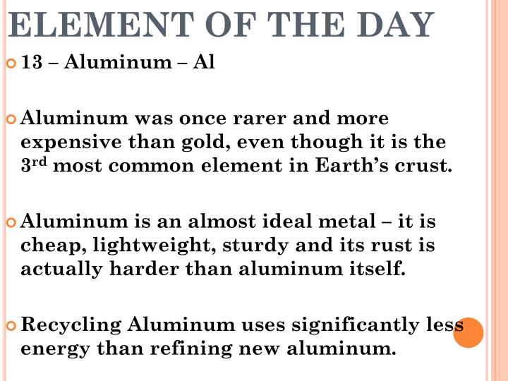 Element of the day