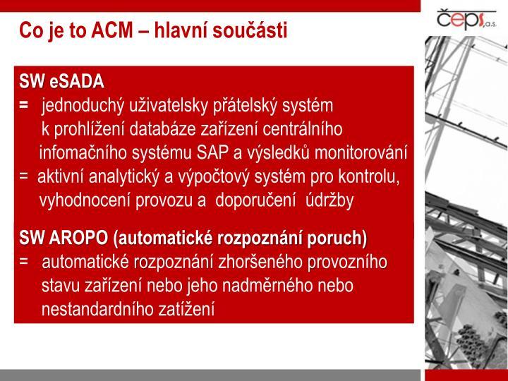 Co je to ACM – hlavní součásti