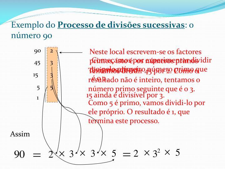 Exemplo do
