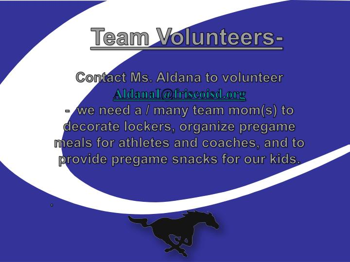 Team Volunteers-