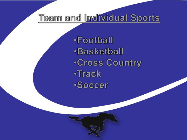 Team and Individual Sports