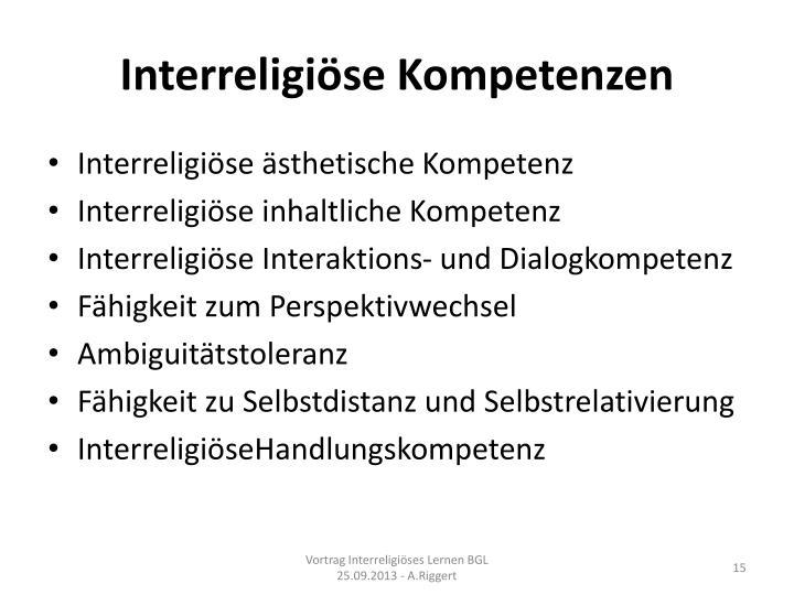 Interreligiöse Kompetenzen