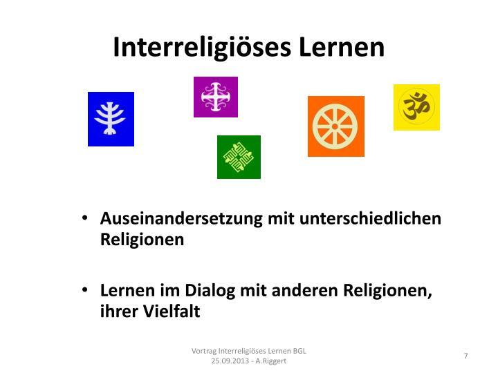 Interreligiöses Lernen