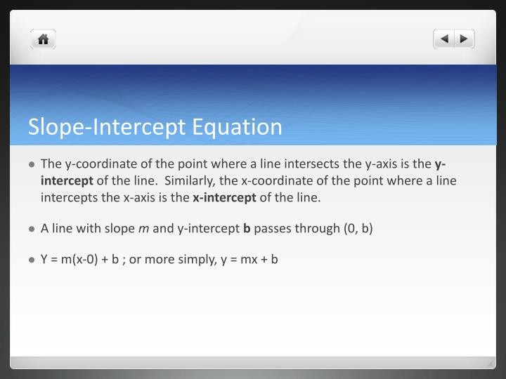 Slope-Intercept Equation