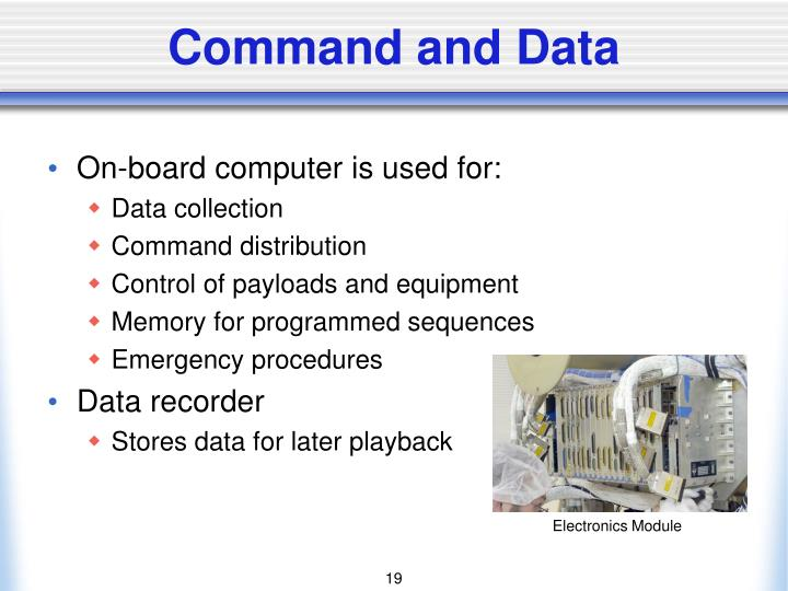 Command and Data
