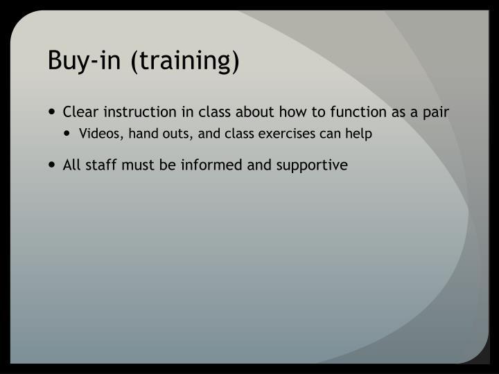 Buy-in (training)