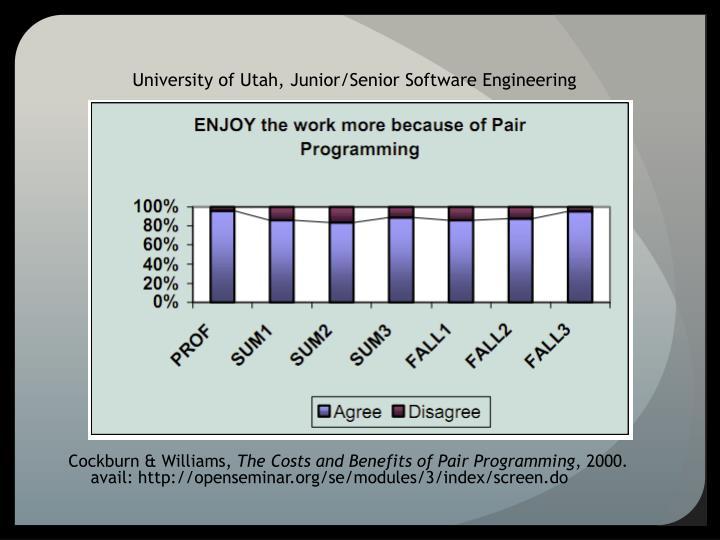 University of Utah, Junior/Senior Software Engineering