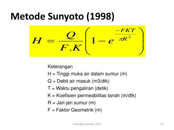 Metode Sunyoto (1998)