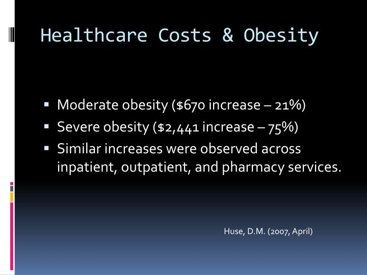 Healthcare Costs & Obesity