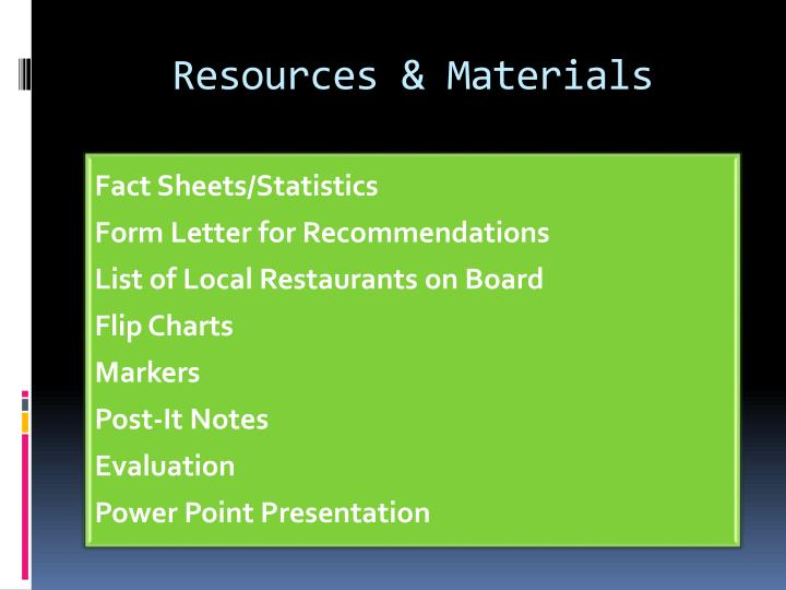 Resources & Materials
