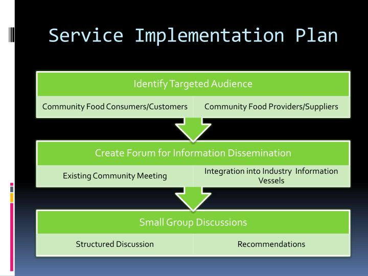 Service Implementation Plan