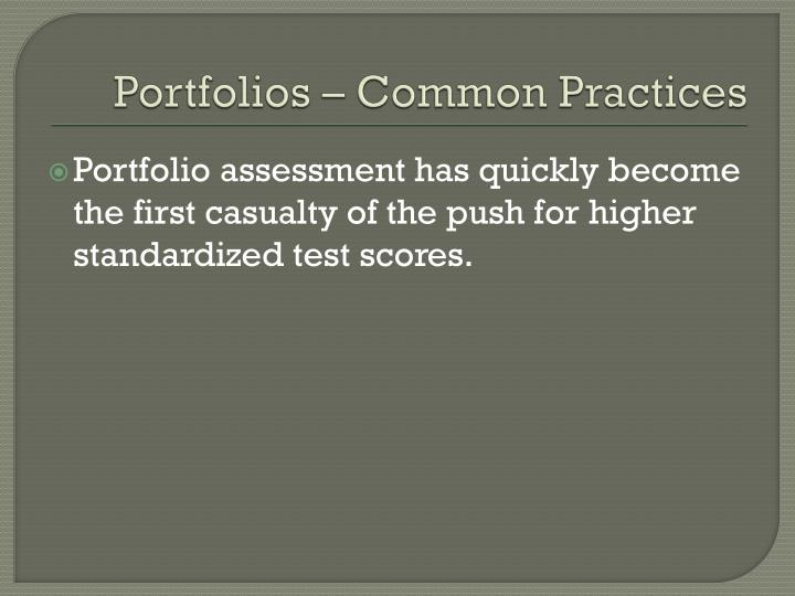 Portfolios common practices1