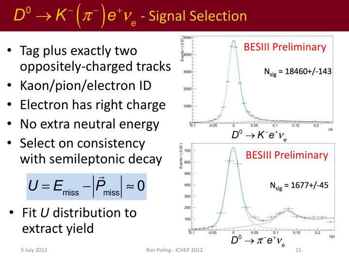 - Signal Selection