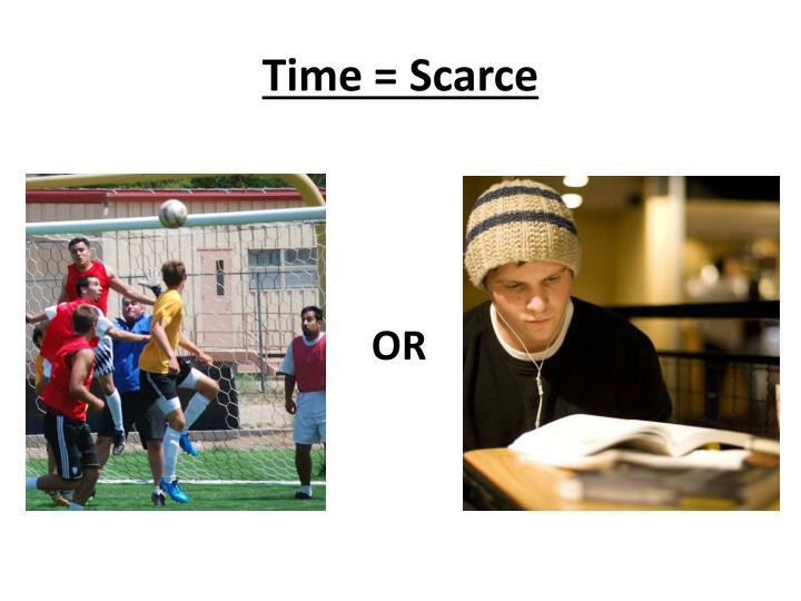 Time = Scarce