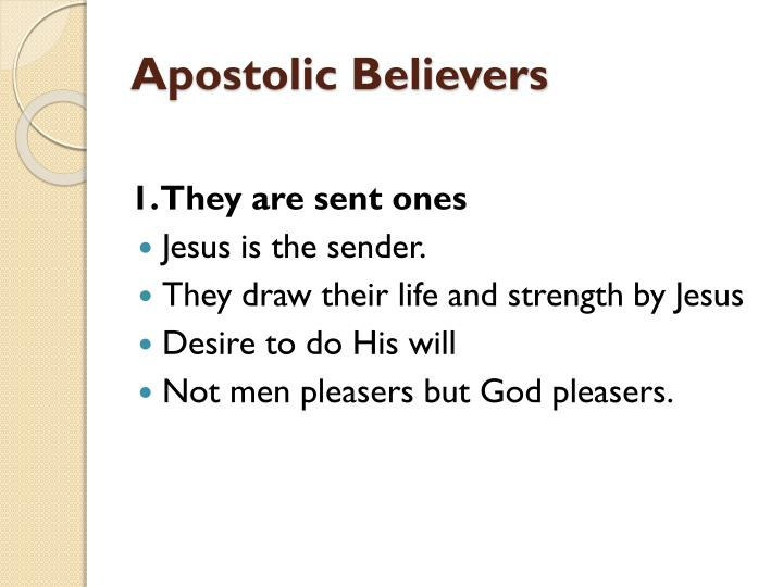 Apostolic believers2