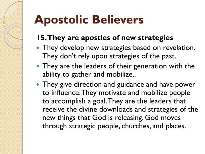 Apostolic Believers
