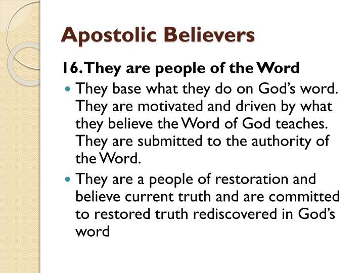 Apostolic Believers