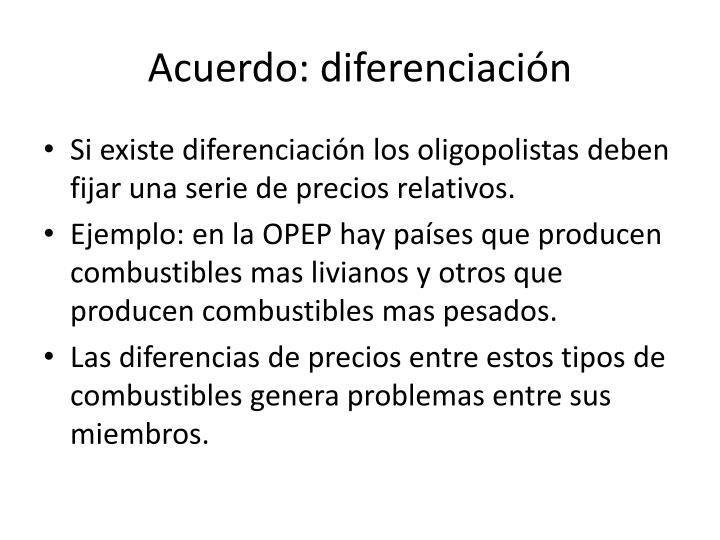 Acuerdo: diferenciación