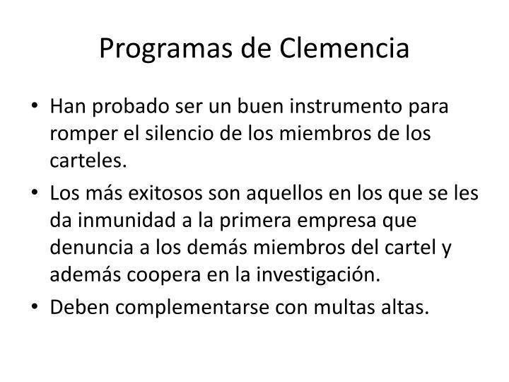 Programas de Clemencia