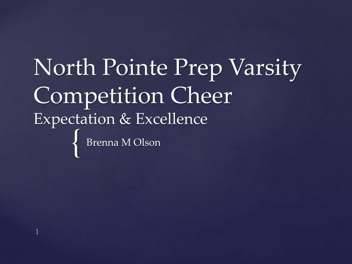 North Pointe Prep Varsity Competition Cheer