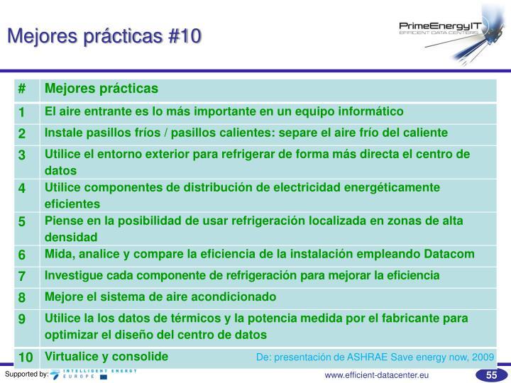 Mejores prácticas #10