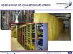 optimizaci n de los sistemas de cables