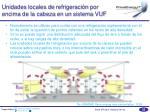 unidades locales de refrigeraci n por encima de la cabeza en un sistema vuf