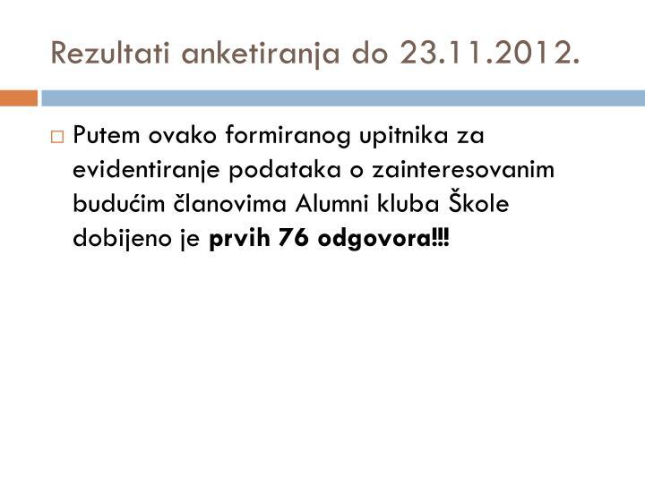 Rezultati anketiranja do 23.11.2012.