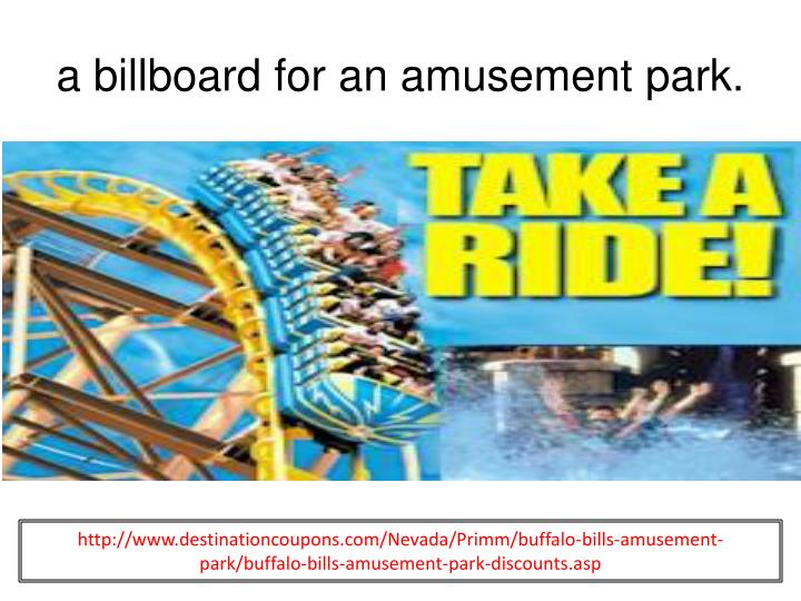 a billboard for an amusement park.