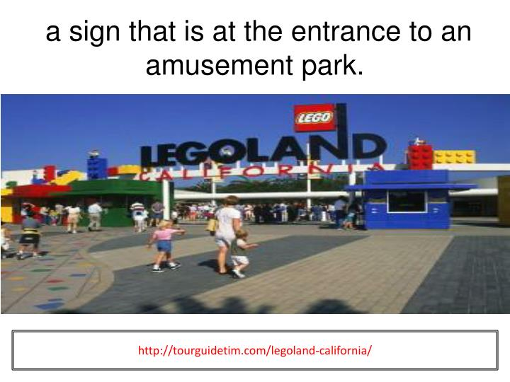 a sign that is at the entrance to an amusement park.