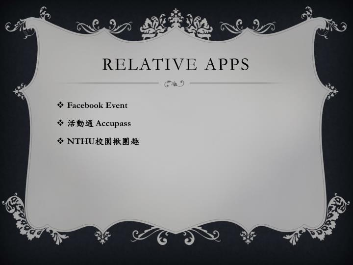 Relative apps