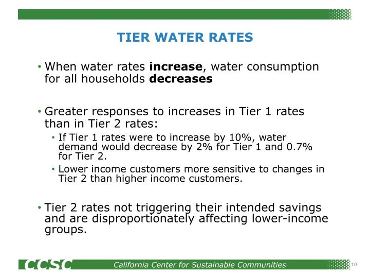 TIER WATER RATES