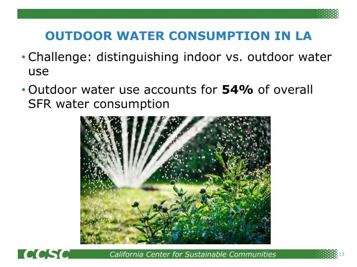 OUTDOOR WATER CONSUMPTION IN LA