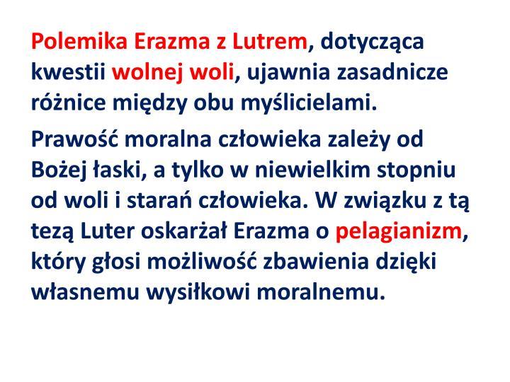 Polemika Erazma z Lutrem